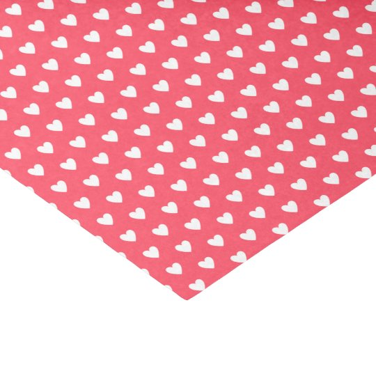 Love and Friendship White Hearts on Red Tissue