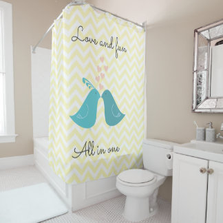 Love and Fun All in One Shower Curtain