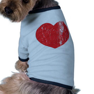 Love and Hate Heart Dog Tee Shirt