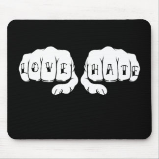 Love and Hate Mouse Mat