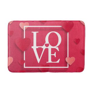 Love and Hearts Bath Mat