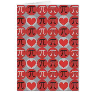 Love and Hearts Pi Card