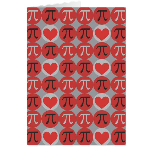 Love and Hearts Pi Card
