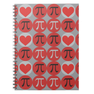 Love and Hearts Pi Notebooks