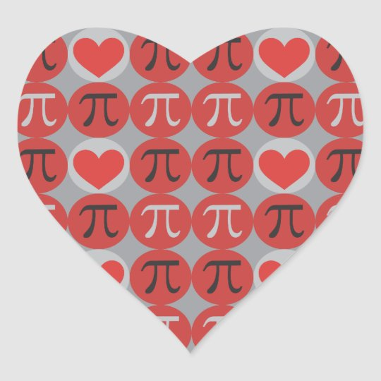 Love and Hearts Pi Stickers - Cute Pi
