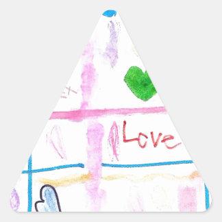 Love and Hearts Triangle Sticker