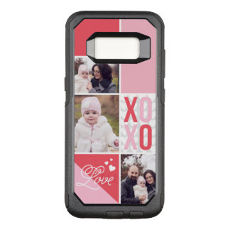 Love and Hugs 3 Photo Collage OtterBox Commuter Samsung Galaxy S8 Case