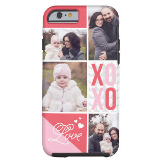 Love and Hugs 4 Photo Collage Tough iPhone 6 Case