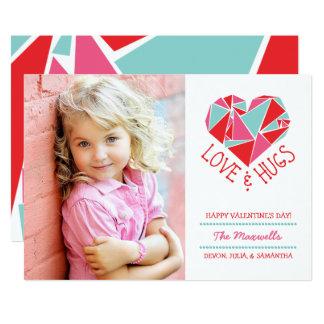 Love and Hugs Photo Valentine Card 13 Cm X 18 Cm Invitation Card