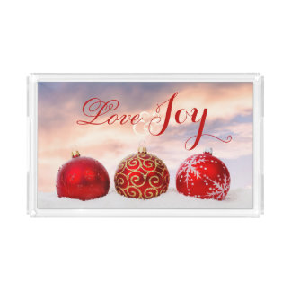 Love and Joy Christmas Serving Tray