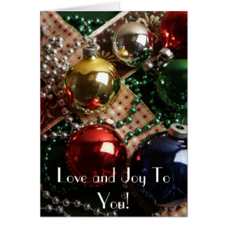 Love and Joy Greeting Card