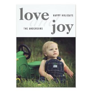 Love And Joy | Happy Holidays | Photo Card