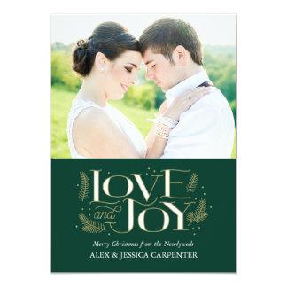 Love and Joy Newlywed Christmas Photo Cards 13 Cm X 18 Cm Invitation Card