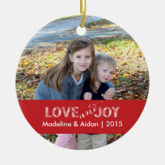 Love and Joy | Personalized Photo Ornament