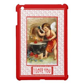 Love and kisses, cupid at work iPad mini cases
