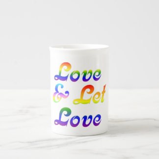 LOVE AND LET LOVE TEA CUP