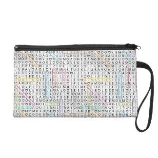 Love and Letters Baguette Bag Wristlet Purses