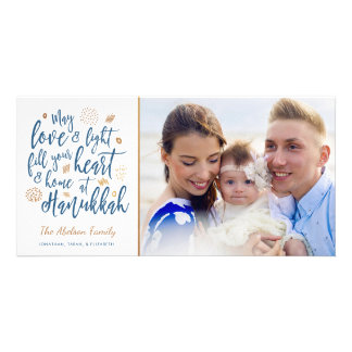 Love and Light Hanukkah Photocard Card