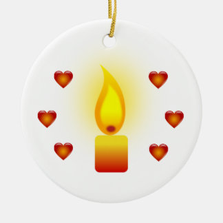 'Love and Light' quote Christmas Ornament