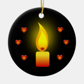 'Love and Light' quote ' Christmas Ornament
