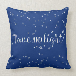 Love and Light Stars Holiday Throw Pillow