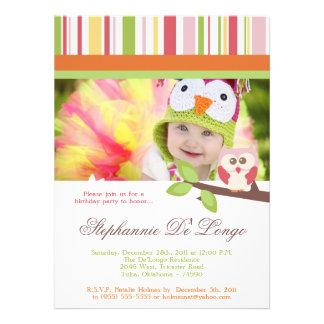 Love and Nature Girl Woodland Birthday Invitation