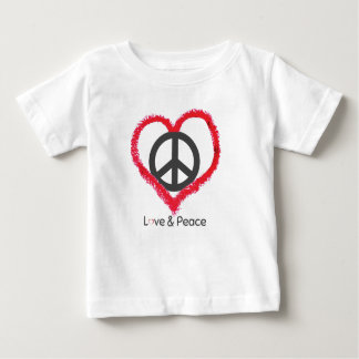 Love and Peace Baby Fine Jersey T-Shirt
