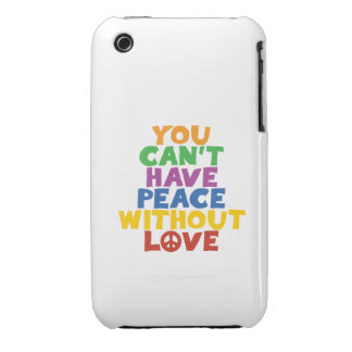 Love and Peace iPhone 3 Case-Mate Cases