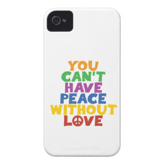 Love and Peace Case-Mate iPhone 4 Cases