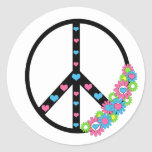 Love and Peace Round Sticker