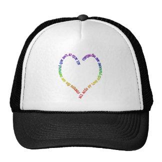 love and pleasure- rainbow heart cap