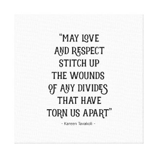Love and Respect canvas poster Canvas Print