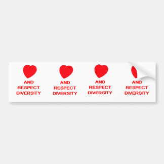 LOVE AND RESPECT DIVERSITY Bumper Sticker