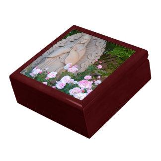 Love and Reverence Mahogany Jewelry Box