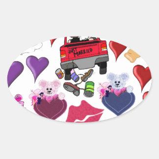 Love and Romance Oval Sticker