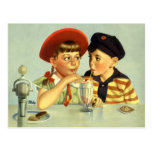 Love and Romance, Vintage Save the Date! Postcard