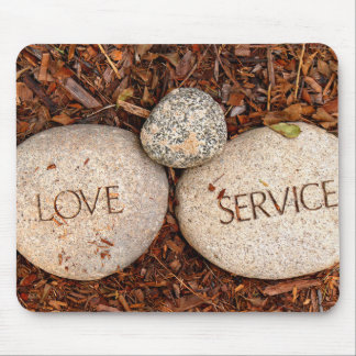 Love and Service Spiritual Stones Photo Mouse Pad