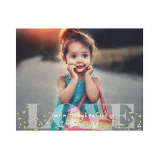 Love and Sparkles Photo Canvas Print