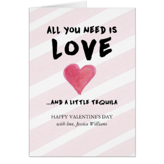 Love and Tequila Valentine's Day Card
