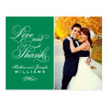 Love and Thanks | Emerald Wedding Thank You