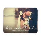 Love and Thanks Simple Script Full Bleed Photo Magnet