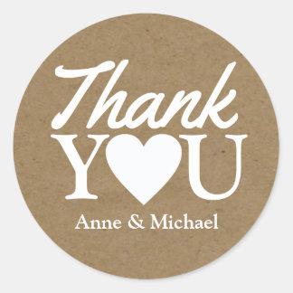 love and thanks wedding favor round sticker