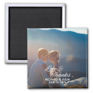 Love and Thanks | Wedding Photo Thank You Favor Magnet