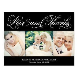 Love and Thanks | Wedding Postcard Thank You