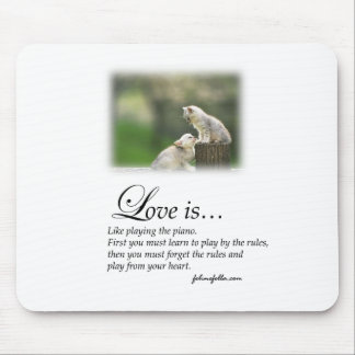 Love and the Piano Mouse Mat