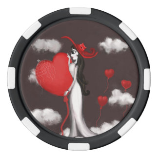 Love and valenitne poker chip set