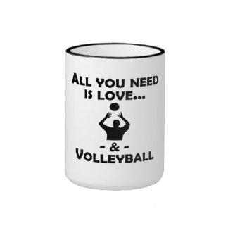 Love And Volleyball Coffee Mugs