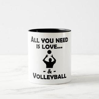 Love And Volleyball Mug