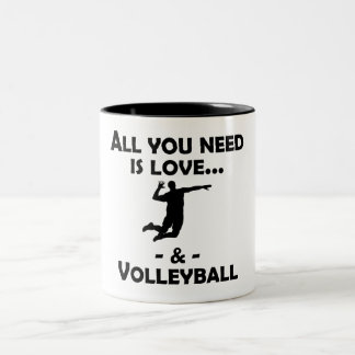 Love And Volleyball Coffee Mug