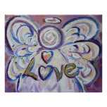 Love Angel Art Poster Print